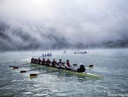 #Rowers warm up @WorldRowing #WRChamps in #Aiguebelette photo @LaurentCipriani @AP_Images #rowing  http://t.co/Kd8qoFc3YL