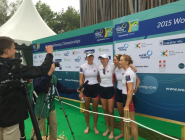 The USA W4x about to receive their gold medals! #WRChamps #RowtoRio @livcoffey @megankalmoe #TracyEisser @aelm222  http://t.co/lnXobhSvc5