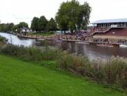 Scene At @worcesterrowing regatta. #WRChamps on TV in clubhouse  http://t.co/Ga1yrigLYD