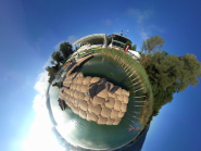 Racecourse during practice hours in 360 #aiguebelette2015 #wrchamps #worldrowing #rowtorio  http://t.co/9aeYeEqQbo