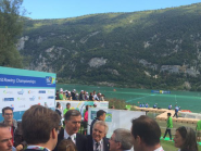Two former rivals. Thomas Bach & Denis Oswald both vied for #IOC presidency. Bach became top dog of sports. #WRChamps  http://t.co/J6ylnF5Ei5