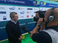 The @Olympics President Thomas Bach is here to watch rowing at #WRChamps.  http://t.co/8gR7lABuKD