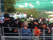 The #NewZealand supporters Battalion, cheering and enjoying ! @RowingNZ  #WRChamps WRC15 #rowing  http://t.co/EzDaSpzeq9