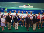 World Championships flag handoff to @usrowing @Sarasotarowing Paul Blackketter #wrc2017 #closingceremonies #WRChamps  http://t.co/Lt9jU0n7wt
