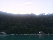 RT @WorldRowing: Good morning from Aiguebelette! View of the start line from the coxswain seat. #WRChamps  http://t.co/M72dQ7Ja3K